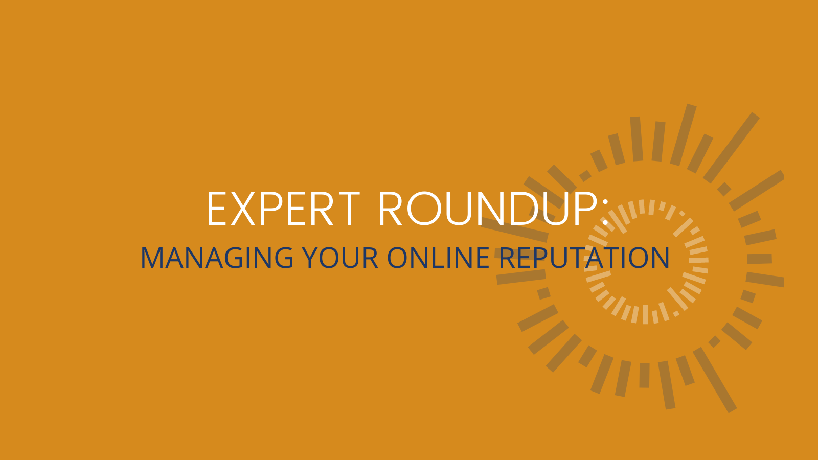 managing a businesses online reputation
