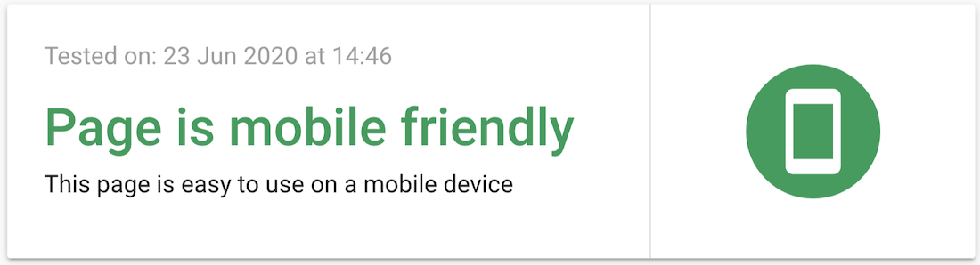mobile friendly - ranking factor